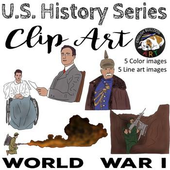 World War 1 World War I Clip Art Set 4