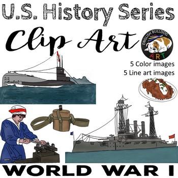 World War 1 World War I Clip Art Set 6