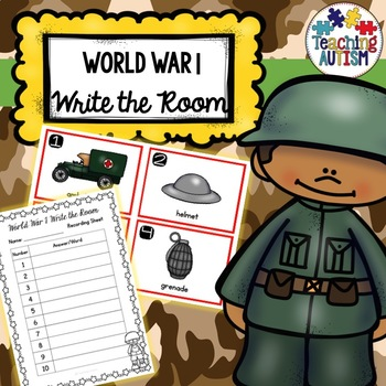 World War 1 Write the Room
