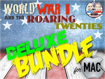 World War I and Roaring 20's Deluxe Bundle - Keynote Version (MAC USERS ONLY)