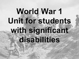 World War 1 for Students with Significant Disabilities