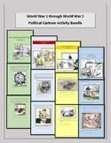 World War 1 through World War 2 Political Cartoon Activity Bundle