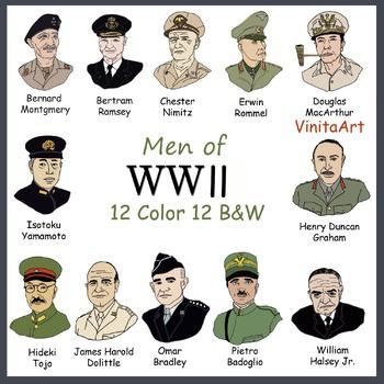 World War 11, WW11, Men of World War 11, Famous people from WW11