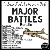 World War II (2)- 10 Major Battles Reading Comprehension Bundle