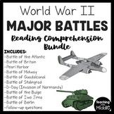 World War II (2) 10 Major Battles Reading Comprehension Bundle