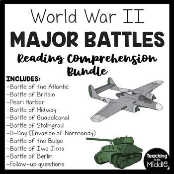 World War 2- 10 Major Battles, articles, questions, chart,