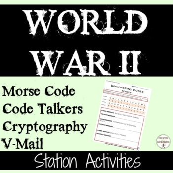 World War 2 Cryptology Codes And Code Breaking 4 Activities