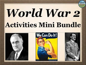 World War 2 Activities Mini Bundle