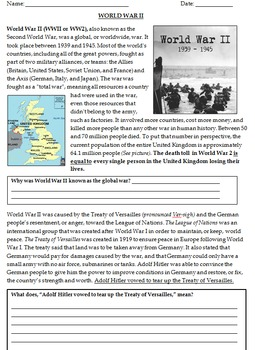 World War 2 - An Introduction