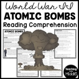 World War 2- Atomic Bombs Reading Comprehension, Manhattan Project, Truman