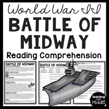 World War II- Battle of Midway reading comprehension artic
