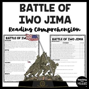 World War 2- Battle of Iwo Jima reading comprehension work