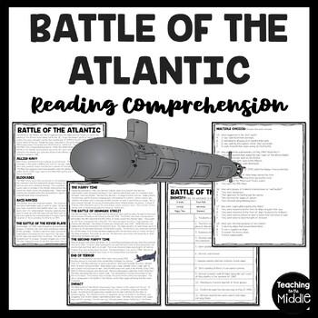 World War 2- Battle of the Atlantic Reading Comprehension Worksheet