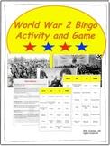 World War 2 Bingo Activity and Game