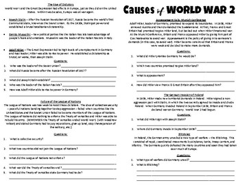 World War 2: Causes