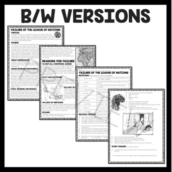 Causes of World War II (2) Reading Comprehension Worksheet
