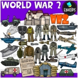 World War 2 Clip Art Bundle {Educlips Clipart}