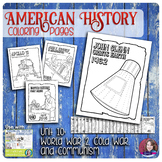 World War 2, Cold War, and Communism Coloring Activities - US History