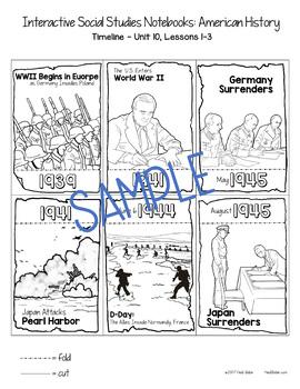 World War 2, Cold War, and Communism Illustrated Timelines - US History