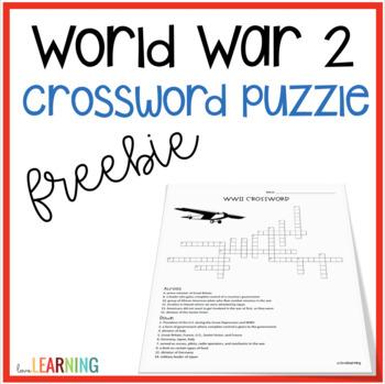 World War 2 Crossword {FREE}