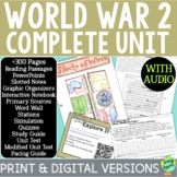 World War 2 Curriculum, World War II, WW2, WWII; Distance Learning