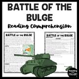 World War 2 Battle of the Bulge Reading Comprehension Worksheet World War II