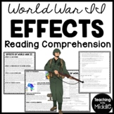 Effects of World War II (2) Reading Comprehension, United Nations, Worksheet
