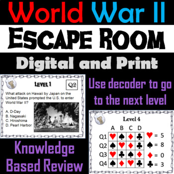 World War 2: Escape Room - Social Studies