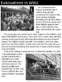World War 2 Evacuations-Paired Text for The Lion, the Witc