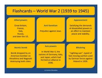 World War 2 - Flash cards