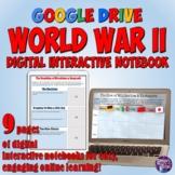 World War 2 Google Drive Interactive Notebook for Distance