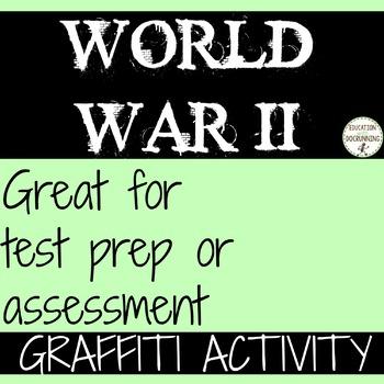World War 2 One Pager Graffiti Activity EDITABLE