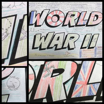 World War II Activity One Pager Graffiti  EDITABLE Distance Learning