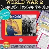 World War 2: HUGE LESSON BUNDLE  DIGITAL & Print