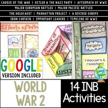 World War 2 Interactive Notebook Activities, World War II, WW2, WWII