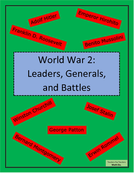 World War 2: Leaders, Generals, and Battles