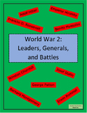 World War 2: Leaders, Generals, and Battles