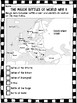 World War 2- Major Battles Chart- Britain, Berlin, Iwo Jima, Guadacanal, etc.