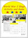 World War 2 - Map Activities and Bingo Game BUNDLE