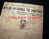 World War 2 - Map Worksheet/Quiz - Hitler Starts To Move
