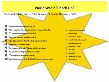 World War 2 Matching Assessment