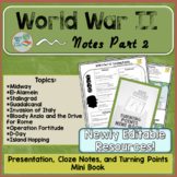 World War 2 Notes Part 2 Turning Points