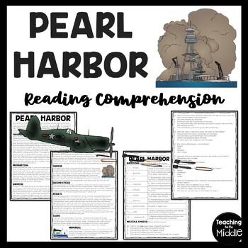 World War 2- Pearl Harbor Reading Comprehension Worksheet and DBQ