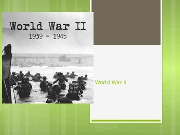 World War 2 Power Point