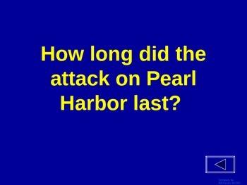 World War 2 (Pre War & Pearl Harbor) - Jeopardy Review