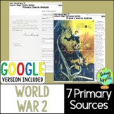 World War 2 Primary Sources, World War II, WW2, WWII Prima