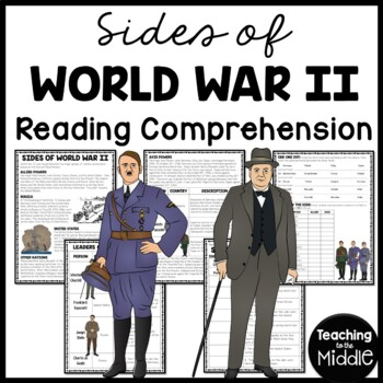 World War 2 Sides of WWII Allied & Axis Powers... by Teaching to ...