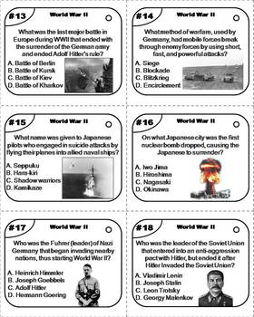 World War 2 Task Cards: Axis and Allied Powers