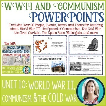 World War 2   The Cold War   Communism American History Unit Bundle