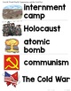 World War 2 | The Cold War | Communism Vocabulary Posters, Cards, etc.